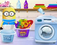 Baby minion washing clothes minyon minion játékok