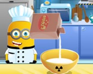 Minion banana cake cooking online